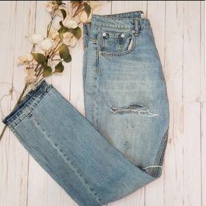 Zara Distrested Mom Jeans